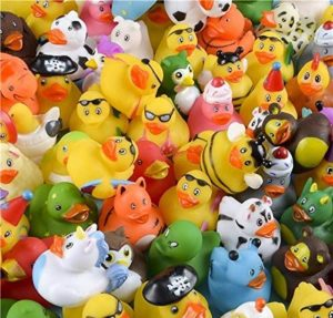 Pack assorted rubber ducks