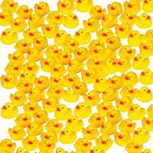 Pack 100 mini rubber ducks