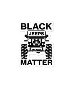 Black Jeeps Matter Stickers