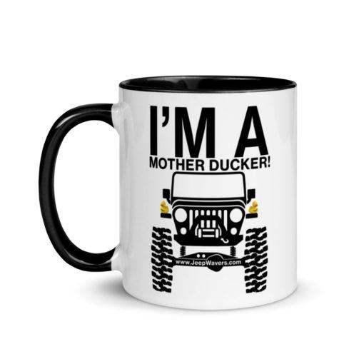 I'm a Mother Ducker! Mug with Color Inside Mugs DuckDuckJeep