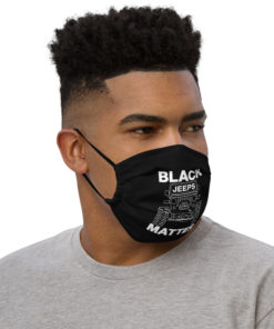 Black Jeeps Matter Face Mask