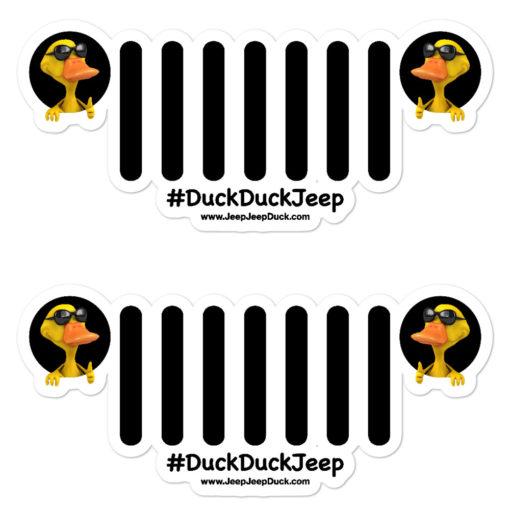 DuckDuckJeep Grill Stickers Decals