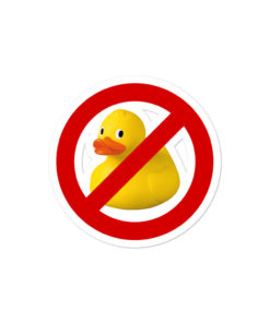 No Jeep Duck! Bubble-free stickers