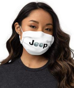 Jeep Disco Ball Logo face mask