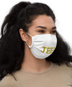 Jeep Sunflower Letters face mask