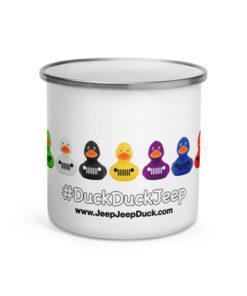 DuckDuckJeep Ducks Jeep Grill Enamel Mug