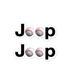 Jeep Baseball Logo Bubble-free stickers (X2) Stickers Baseball