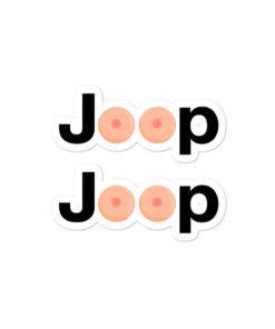 Jeep Boobies Logo stickers
