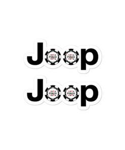 Jeep Poker Logo stickers
