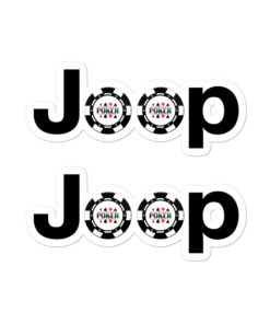 Jeep Poker Logo Bubble-free stickers (X2) Stickers Poker