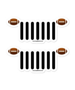Jeep Football American Grill stickers