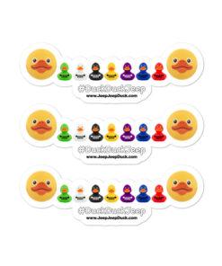 DuckDuckJeep Ducks Jeep Grill stickers