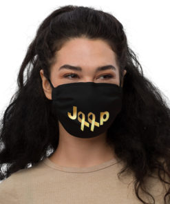 Jeep Childhood Cancer 2 Ribbons Logo Face Mask