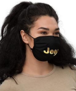 Jeep Childhood Cancer Ribbon Logo Face Mask