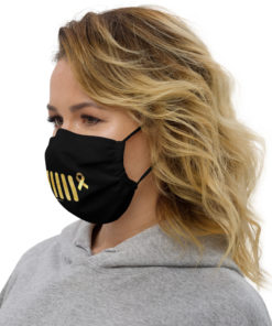 Jeep Childhood Cancer Grill Face Mask