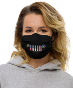 Jeep Wisconsin Seal Grill Black Face Mask Face Masks Wisconsin