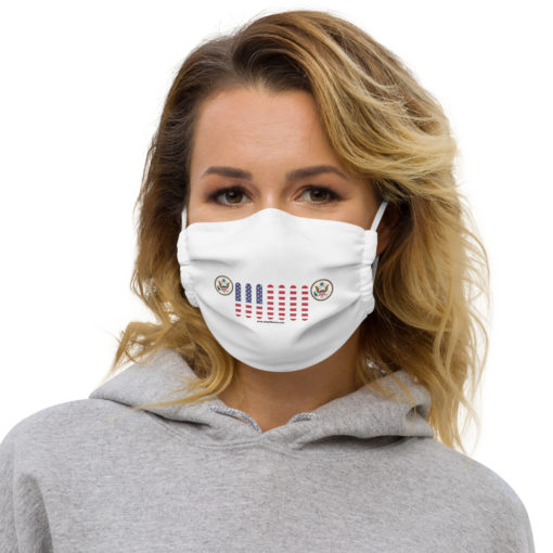Jeep USA Seal Grill White Face Mask