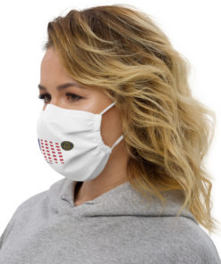 Jeep Rhode Island Seal Grill White Face Mask Face Masks Rhode Island