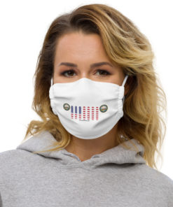 Jeep New Hampshire Seal Grill White Face Mask Face Masks New Hampshire