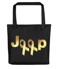 Jeep Childhood Cancer 2 Ribbons Logo Tote bag