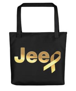 Jeep Childhood Cancer Ribbon Logo Tote bag