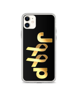 Jeep Childhood Cancer 2 Ribbons Logo iPhone Case