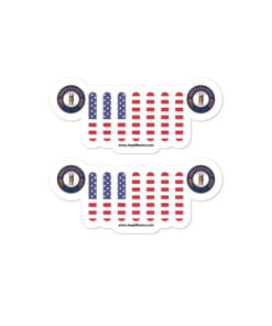 Jeep Kentucky Seal Grill Bubble-free stickers (X2) Stickers Kentucky