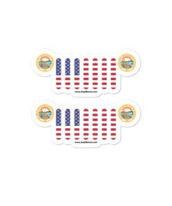 Jeep Minnesota Seal Grill Bubble-free stickers (X2) Stickers Minnesota