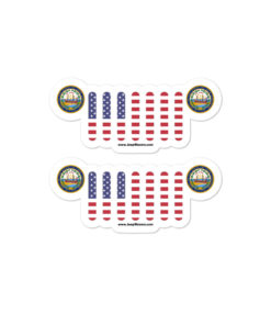 Jeep New Hampshire Seal Grill Bubble-free stickers (X2) Stickers New Hampshire