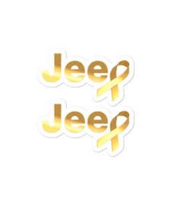Jeep Childhood Cancer Ribbon Logo stickers