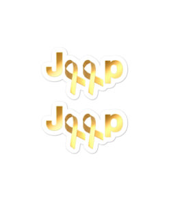 Jeep Childhood Cancer 2 Ribbons Logo stickers