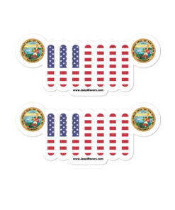 Jeep California Seal Grill stickers