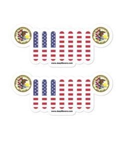 Jeep Illinois Seal Grill stickers