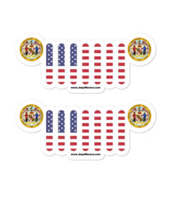 Jeep Maryland Seal Grill stickers