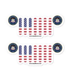 Jeep Utah Seal Grill stickers
