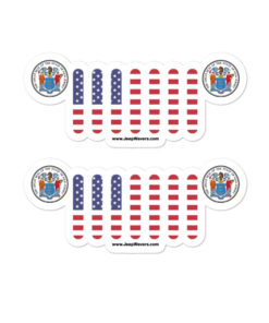 Jeep New Jersey Seal Grill Bubble-free stickers (X2) Stickers New Jersey