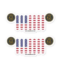 Jeep Rhode Island Seal Grill Bubble-free stickers (X2) Stickers Rhode Island
