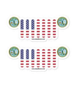 Jeep South Carolina Seal Grill Bubble-free stickers (X2) Stickers South Carolina