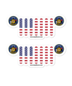 Jeep Wisconsin Seal Grill Bubble-free stickers (X2) Stickers Wisconsin