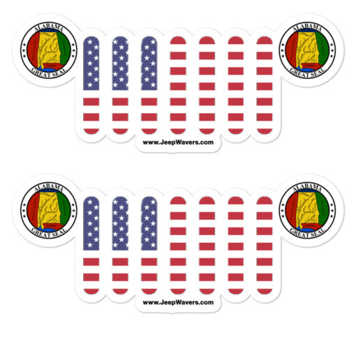 Jeep Alabama Seal Grill stickers