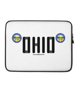 Jeep Ohio Seal Grill Laptop Sleeve