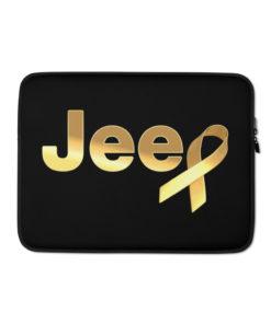 Jeep Childhood Cancer Ribbon Logo Laptop Sleeve