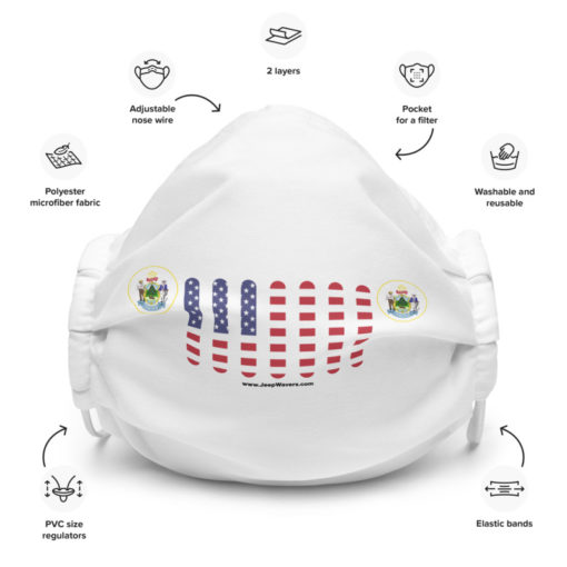 Jeep Maine Seal Grill White Face Mask Face Masks Maine