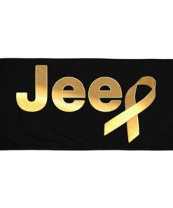 Jeep Childhood Cancer Ribbon Logo Towel