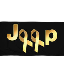 Jeep Childhood Cancer 2 Ribbons Logo Towel