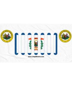 Jeep West Virginia Flag & Seal Grill Towel Towels West Virginia