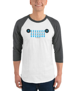 Jeep Snowboard Grill Unisex 3/4 sleeve raglan shirt 3/4 Sleeve Raglan Shirts Snowboard