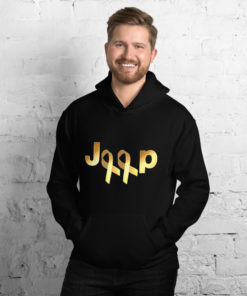 Jeep Childhood Cancer 2 Ribbons Logo Unisex Hoodie