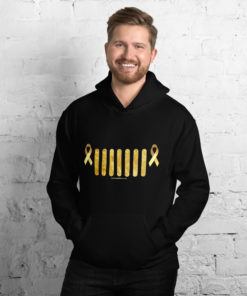 Jeep Childhood Cancer Grill Unisex Hoodie