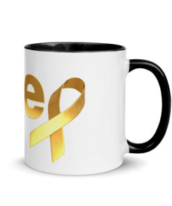 Jeep Childhood Cancer Ribbon Logo Mug
